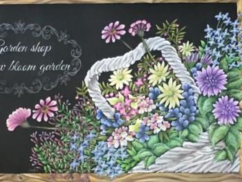 奈良ぎんのいすチョークアートワークスSnow bloom gardenサインボード