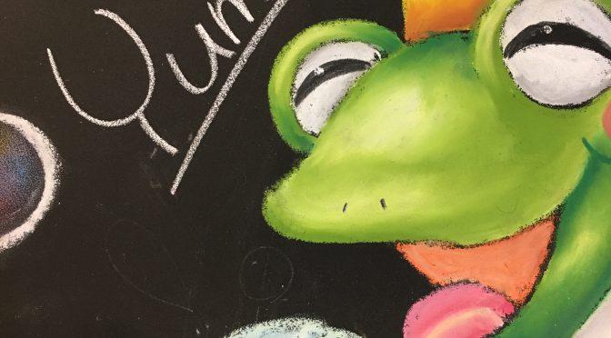 チョークアート,奈良チョークアート,ぎんのいす,ぎんのいすARTWORKS,チョークアート教室,ワークショップ,体験レッスン,王寺駅前,かえる