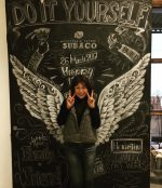 奈良,王寺,奈良チョークアート,ぎんのいすARTWORKS,黒板アート,天使の羽