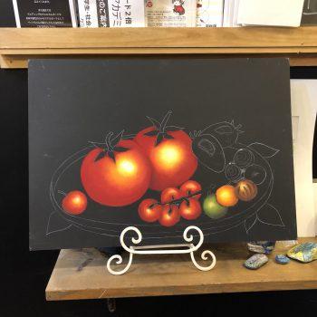 トマト,チョークアート,ぎんのいすartworks,