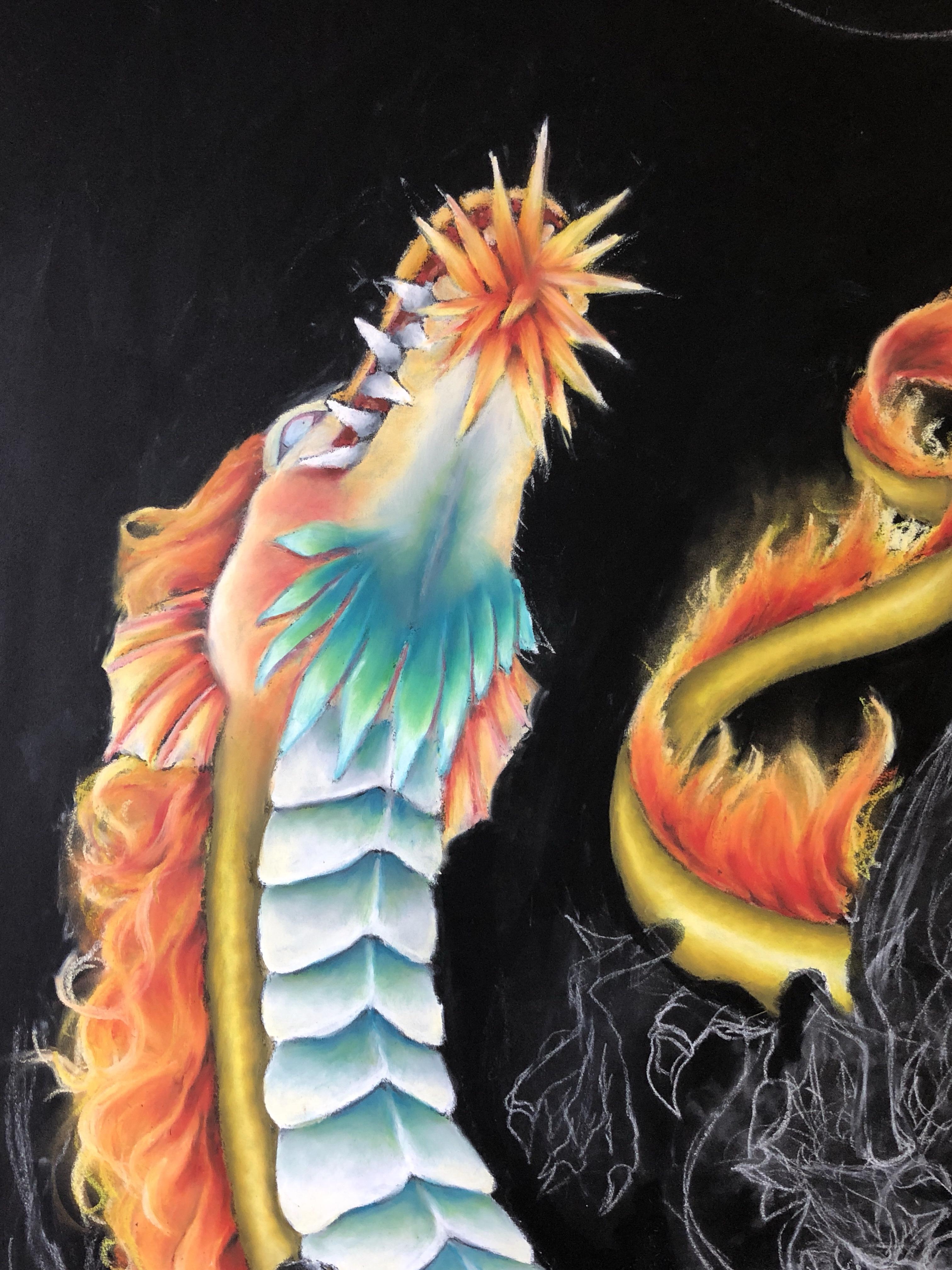 龍,ぎんのいすARTWORKS,chalkart,チョークアート