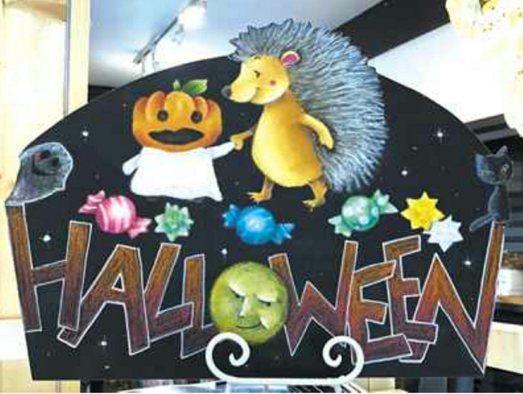 ハロウィン Halloween chalkart チョークアート