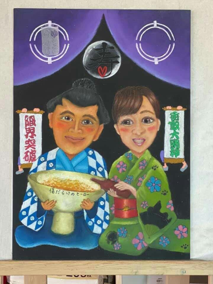 チョークアート  chalkart  ウェディングボード  メモリアルボード  似顔絵