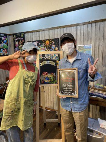 ぎんのいすART WORKS チョークアート