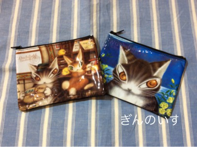 奈良雑貨屋ぎんのいす 猫のダヤン マーシーズバースデイメッシュポーチ