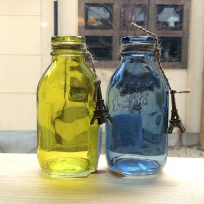 奈良王寺・雑貨屋ぎんのいす・チャーム付きガラスの小瓶